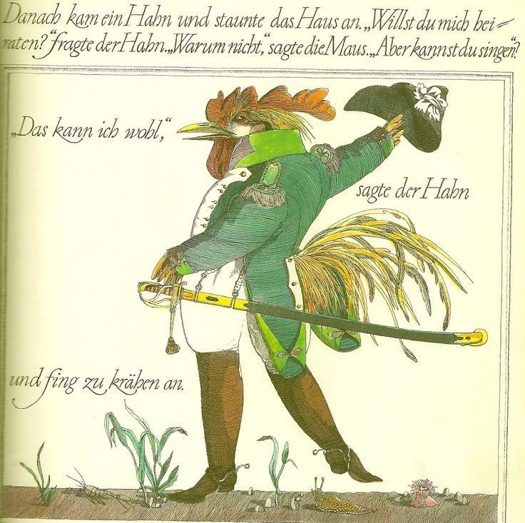"Klaus Ensikat illustration for ""Kieselchen""."