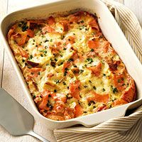 Bagel, Lox, and Egg Strata Recipe