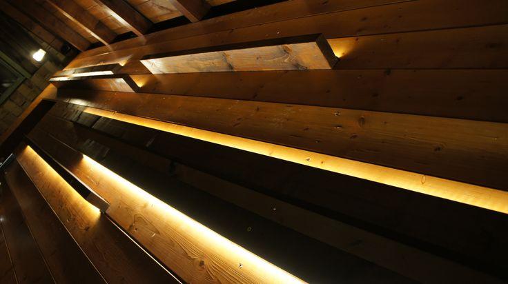 Rejtett ledes világítás, dekorfal Led light