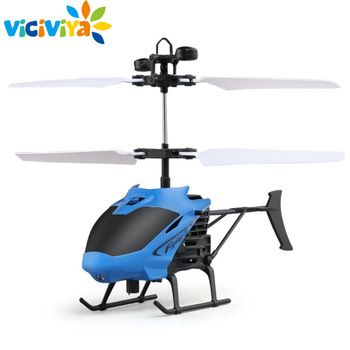 D715 Flying Mini RC Infrared Induction Helicopter Aircraft USB Charge LED Flashing Light RC Remote Control Helikopter Kids Toys  Price: 6.78 USD