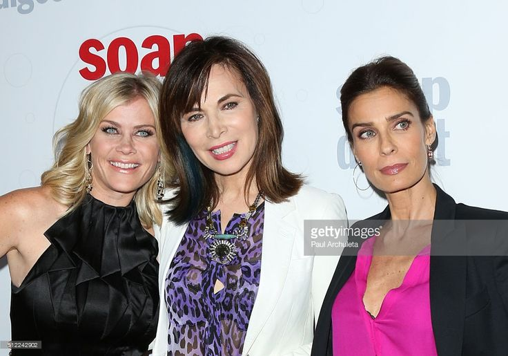 Actors Alison Sweeney, Lauren Koslow and Kristian Alfonso attends Soap Opera Digest's 40th Anniversary celebration at The Argyle on February 24, 2016 in Hollywood, California.