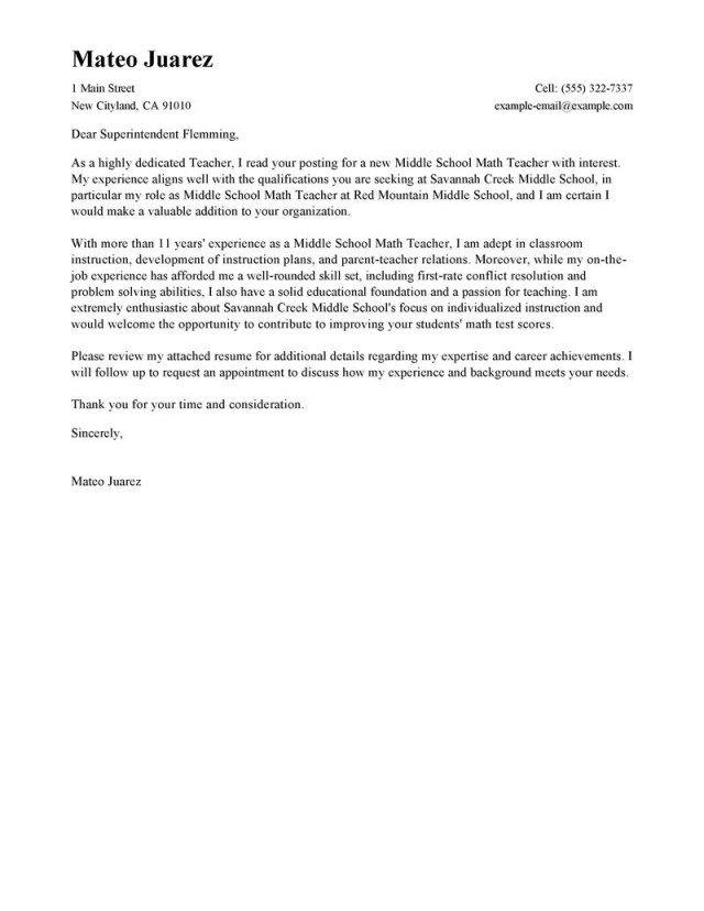 30+ Teacher Cover Letter | Cover Letter Designs | Pinterest | Resume ...