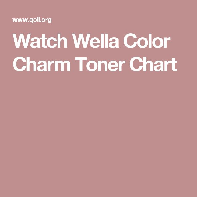 Watch Wella Color Charm Toner Chart