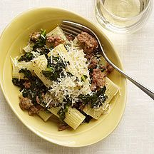 Rigatoni with Sausage and Kale Recipe on Yummly