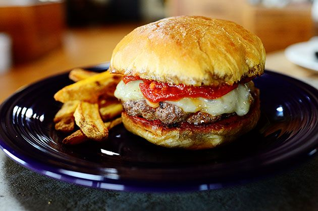 Pepperoni Pizza Burgers - The Pioneer Woman Oh my goodness, two of my ...