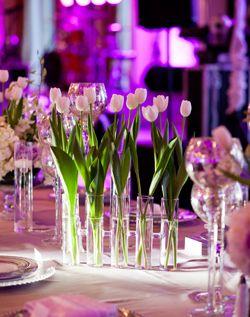 WeddingChannel Galleries: White Tulip Centerpieces