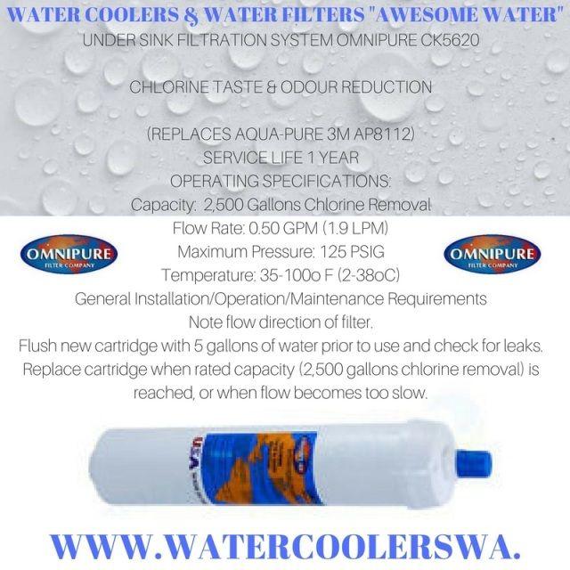 WATER FILTER OMNIPURE MODEL CK5620 1 MICRON CYST REDUCTION BLOCK (REPLACES AQUA-PURE 3M AP8112)