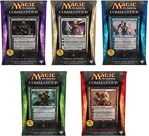 Magic the Gathering (MTG) Commander 2014Includes 5 sets of 2014 Commander DecksEach set includes 100-Card Deck Geared for multiplayer playBundle inclu