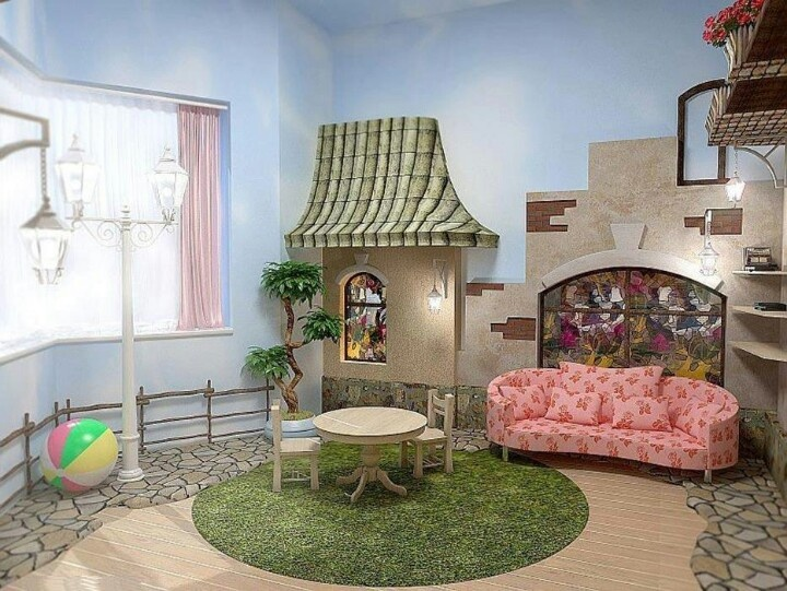 Would Be Cute For A Playroom Fairytale Bedroom/playroom
