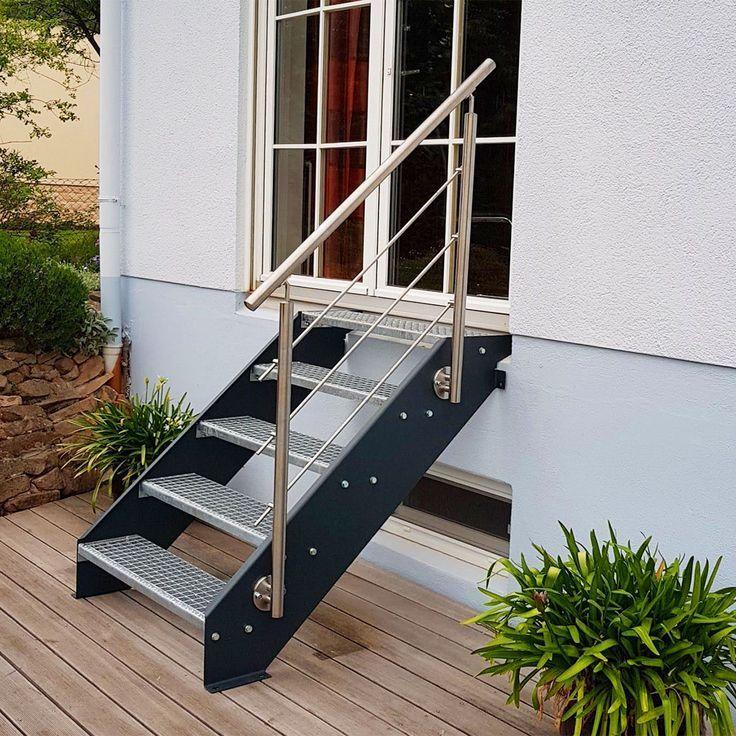 Aussentreppe Gartentreppe Treppe Mit Gelander Treppengelander Handlauf Treppen With Images Outside Stairs Front Garden Garden Steps