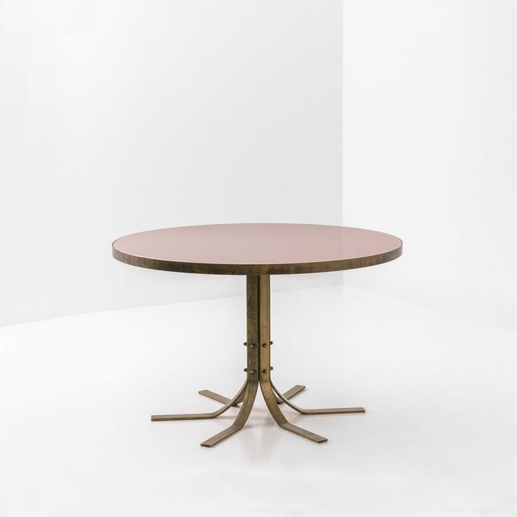 """DIMORESTUDIO Tavolo Basso 055 ontworpen door dimorestudio. Een tafel met enorm mooie poten die me doen denken aan de middeleeuwen. Gemaakt van koper. Prijs op aanvraag Dia 35.4"""" x H 19.6""""   Dia 47.25"""" x H 23.6"""""""
