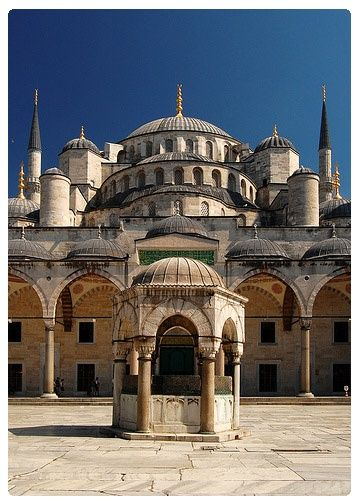 Sultan Ahmed Mosque, Istanbul. It was built from 1609 to 1616, during the rule of Ahmed I. Its Külliye contains a tomb of the founder, a madrasah and a hospice.