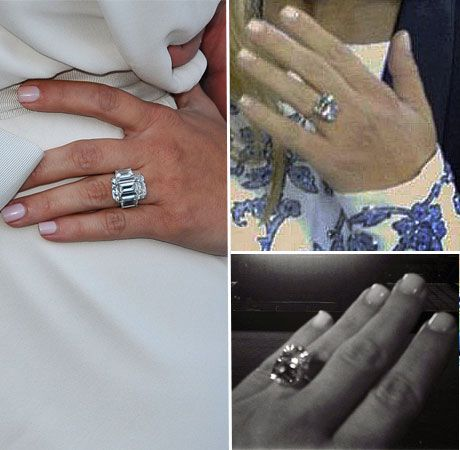 kim kardashian�s engagement rings from kanye west and kris