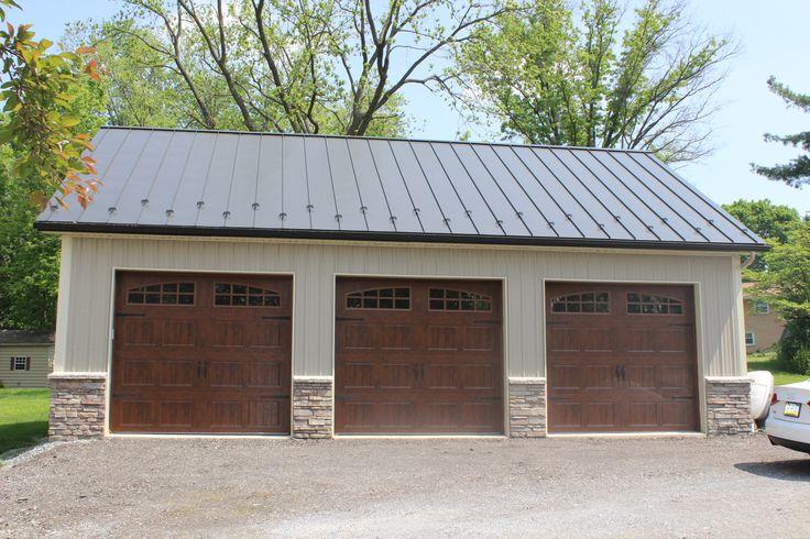 25 best pole barn garage ideas on pinterest for 3 bay garage