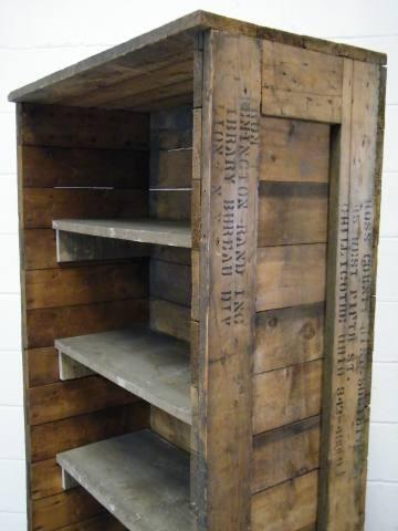 Columbus Architectural Salvage - Repurposed Wood Crate Bookcase