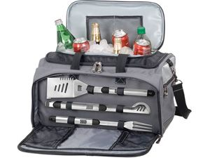 Buccaneer Travel Cooler with Grill and BBQ Tools by Picnic Time at Cooking.com
