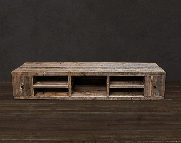 Reclaimed Wood  Media Console / TV Stand by AtlasWoodCo on Etsy https://www.etsy.com/listing/189413815/reclaimed-wood-media-console-tv-stand