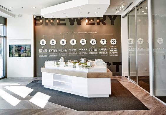 Brewery District Sales Centre - Free Agency Creative #graphicdesign #vancouver…
