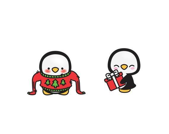 Premium Vector Clipart Kawaii Christmas Penguins Cute Christmas Penguins Clipart Set High Quality Vectors Kawaii Christmas Clipart In 2020 Kawaii Christmas Christmas Penguin Christmas Drawing