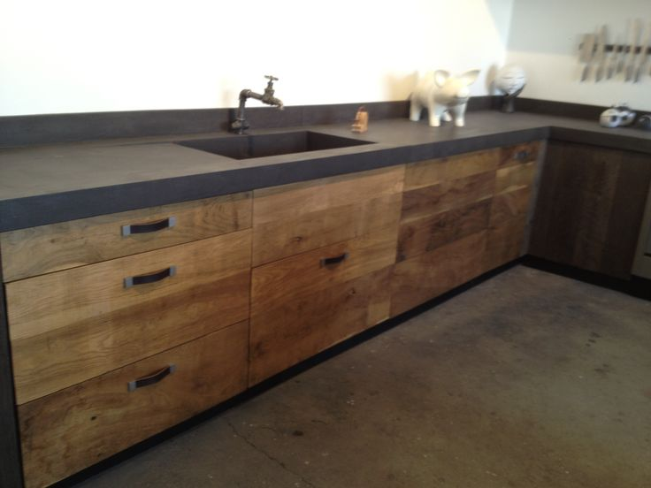 OR have grey countertops with this color rustic look cupboards. I don't like any other brown color to go with grey.
