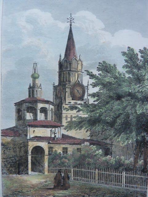 Гравюры 1838 года с видами Москвы и Петербурга | Искусство