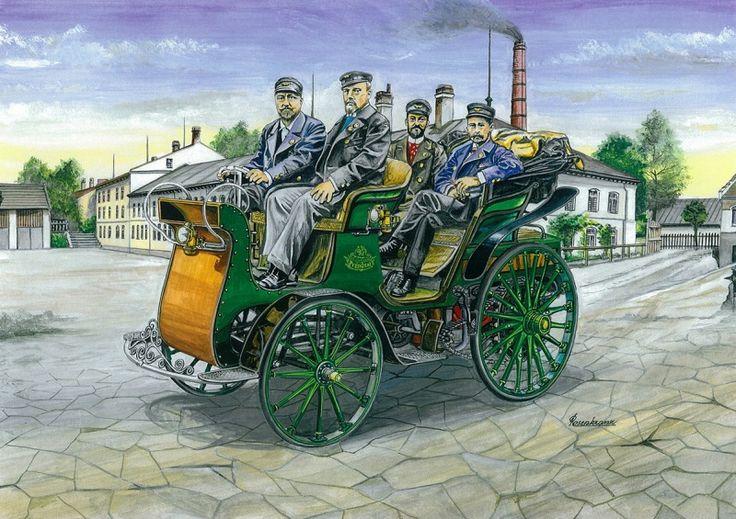 """Pod vedením mistra Leopolda Svitáka byla v roce 1897 zahájena stavba prvního kopřivnického automobilu President. V závěru roku uvedl L. Sviták v kronice: """"První český automobil se stal skutečností, naše námaha nebyla marná. Řadíme se do prvních řad mezi národy, jimž se podařilo prorazit hráz, kterou nastavěla staletí. Už nejen železnice a formani, ale i kočáry bez koní pomohou zkrátit vzdálenosti a sblížit národy."""" Ve dnech 21. a 22. 5. 1898 vykonal Präsident první dálkovou jízdu."""