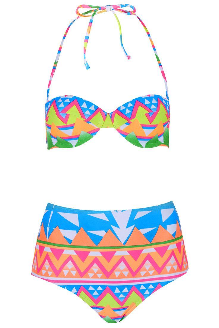 Aztec Surf Bikini Set - Topshop