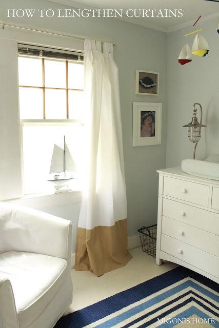 How to Lengthen Curtains - great tutorial!