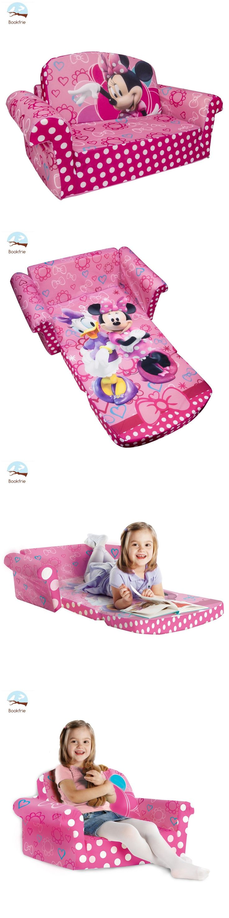 Sofas and Armchairs 134648: 2 In 1 Sofa Bed Kids Toddler Girl Sleeper Furniture Minnie Mouse Reclining Chair -> BUY IT NOW ONLY: $39.1 on eBay!