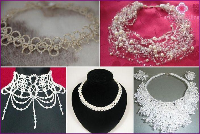 Svatební dekorace přehled korálkové módní šperky, master class, foto