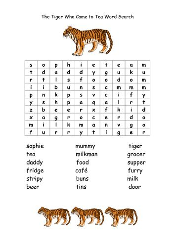 Image result for the tiger who came to tea activities