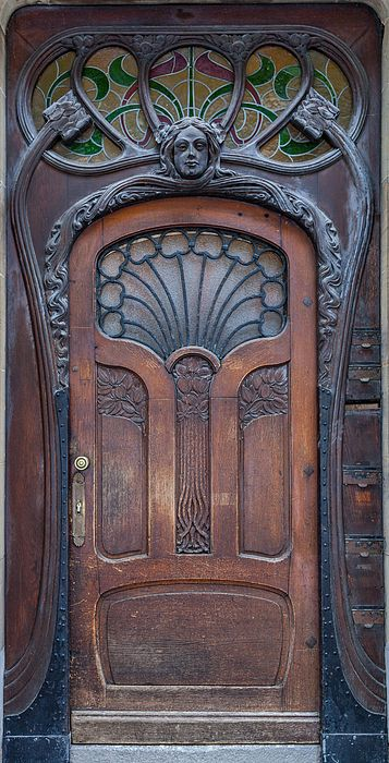 Art Nouveau door, Strasbourg, France