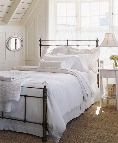 more white bedrooms ... Comforters, Cabin Bedrooms, White Bedrooms, Beds Frames,  Puff, Bedrooms Inspiration, Bedrooms Ideas, Iron Beds, White Room