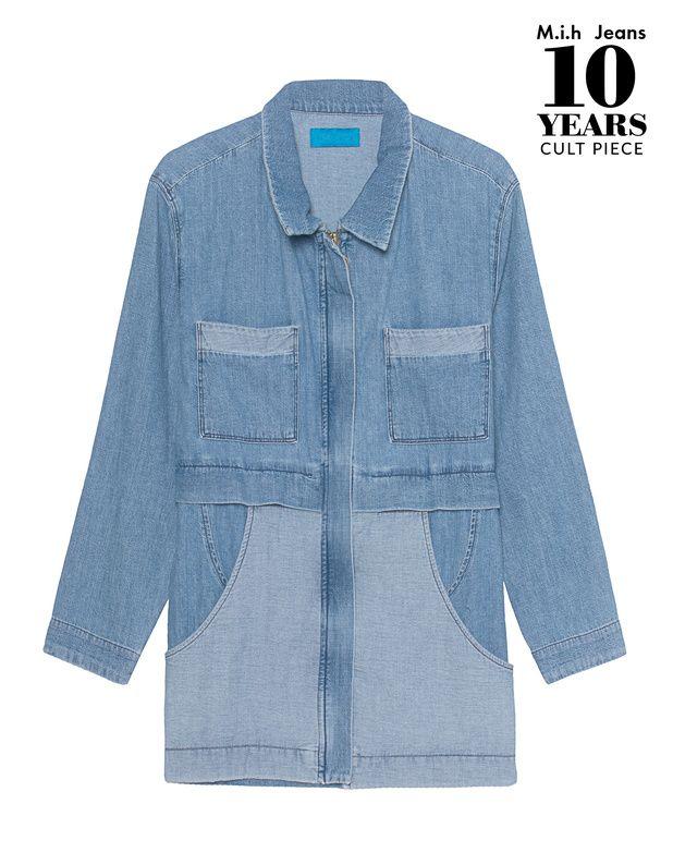 Jeansjacke Die gerade geschnittene Jeansjacke ist aus hochwertiger Baumwolle gefertigt und kommt im zweifarbigen Denim-Design mit verdecktem Reißverschluss und Taillenzug.  Kann sowohl schick als auch lässig kombiniert werden - we love!
