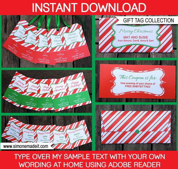 The 25+ best Christmas gift labels template free ideas on - christmas gift certificates free