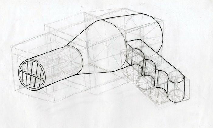 Dibujo Constructivo Din A3 Eskiz Cizim