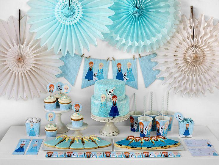 decoracion de fiestas frozen - Buscar con Google