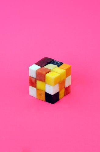 Sarah Illenberger: 'Strange Fruits': Food Transformed Into Gems, Brains, and Rubik's Cubes