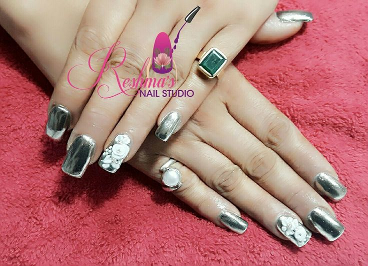 Chrome Nails with 3D