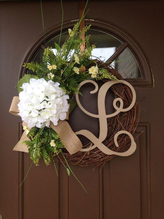 Wreath  Door Decor  Summer Wreath for Front Door  by Flowenka