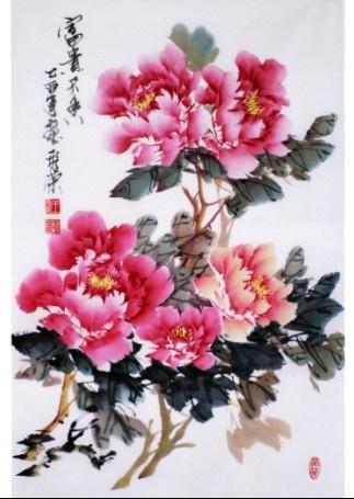 paeonia chinese painting