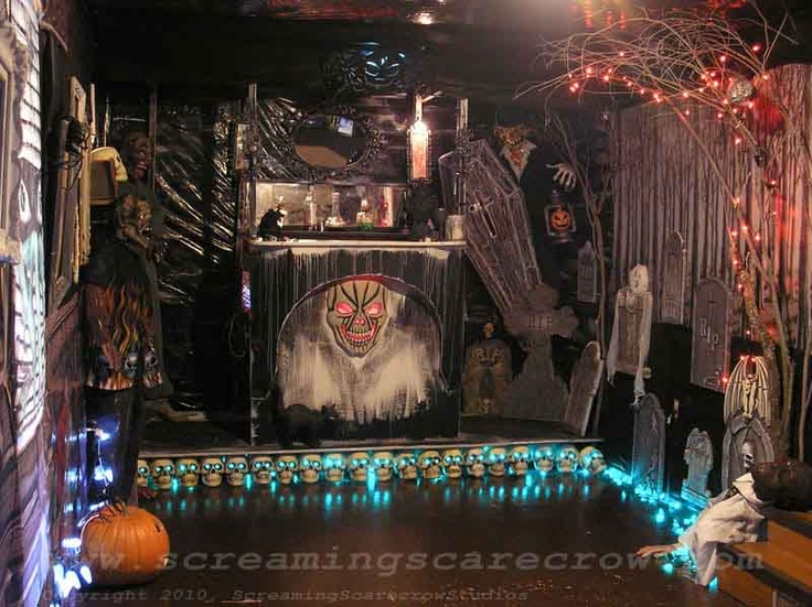 halloween interiors for family room with fireplace 3 home interior fireplace decorationshaunted house - Scary Halloween House Decorations