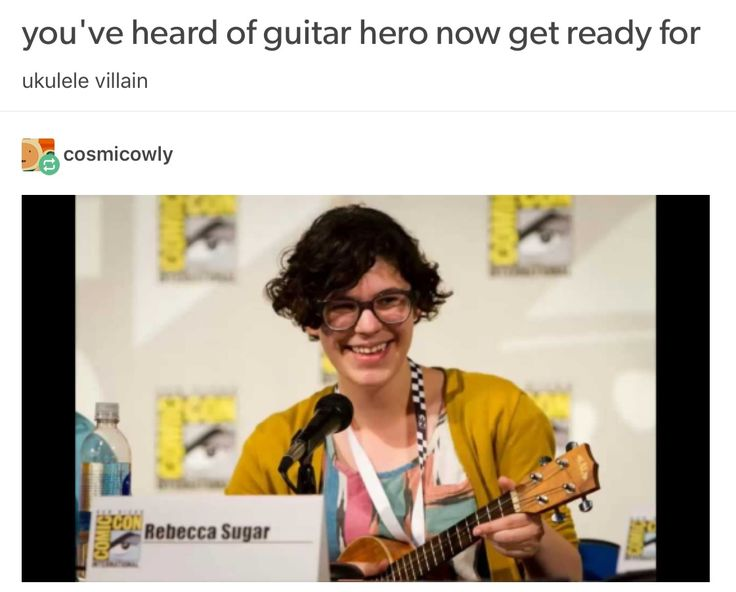 I don't even like Steven Universe but this is funny also I'm not really a huge fan of ukuleles I hate the tuning on those things.