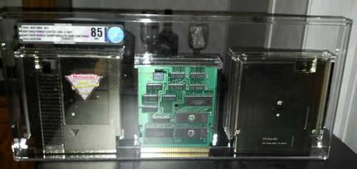 1990 Nintendo World Championships Competition NWC Gold Cartridge VGA 85 NearMint. This person has it on auction starting at $27,000.00.