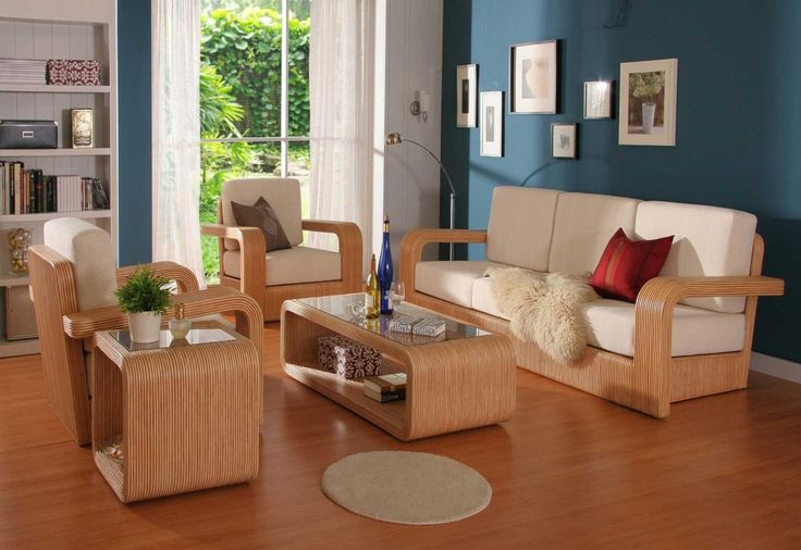 Best bamboo flooring for living room with wooden sofa Floors - wood living room furniture