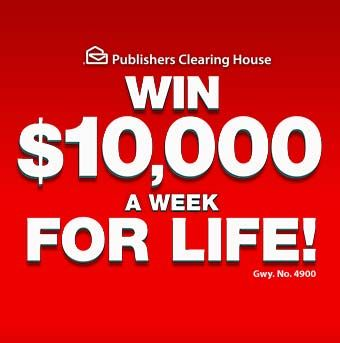 PCH 10000 week for life - New GWY. 4900 - PCH.com $10,000 A Week For Life Sweepstakes on November 25th 2014