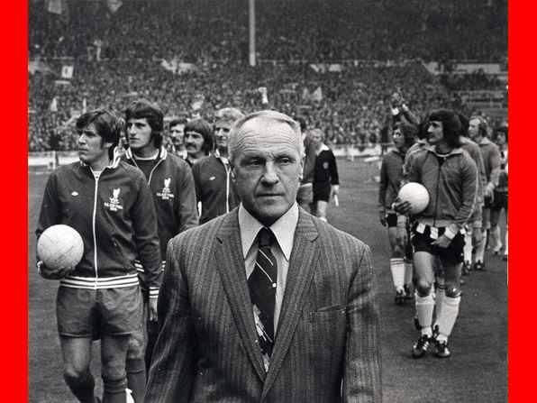 Bill Shankly Leads Liverpool out at Wembley in the FA Cup Final