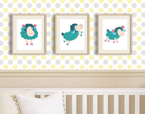 Little lamb little lamb baby shower Cute Lamb Art by MyGalleryWall