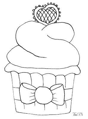 Valentine Cupcake - FREE Digital Stamp by Tori Beveridge