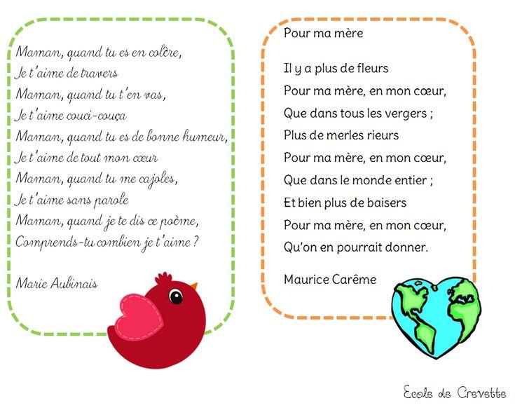 Poésies pour Maman - L'école de Crevette